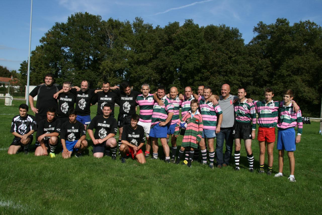 Ste Maure (Noir) & Barbarians Rugby Champagne (Rayé rose)